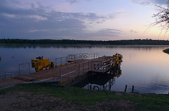 Nile Ferry at Dawn, Murchison Falls NP, Uganda