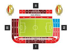 Le Stade Sclessin Seating / Stadio di Liegi suddivisione settori