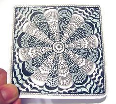 Lace (Mafe.Mavromati) Tags: tile lace zia micron zentangle zendoodle