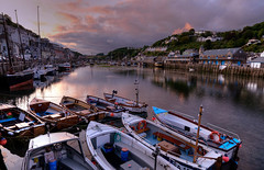 End of a beautiful day at Looe (rosyrosie2009) Tags: uk pink sunset sea summer england seascape water port reflections river landscape boats photography coast fishing nikon flickr cornwall photos hdr looe westcountry thebigpicture coastpath fishquay westernmorningnews photomatix tonemapped eastlooe devonandcornwall westlooe d5000 rosiesphotos westernmorningview riverlooe nikond5000 tamronspaf1024mmf3545diiildasphericalif rosiespooner rosyrosie2009 rosemaryspooner thecornishguardian rosiespoonerphotography