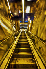 Going Up (Gavin Fordham) Tags: abstract blur stairs southafrica nikon industrial mechanical steel d2x sigma structure trainstation 1020mm 5xp hdrphotomatix gautrain gavinfordham
