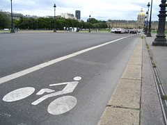 A Paris bike lane