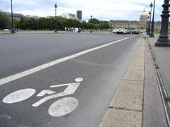 A Paris bike lane