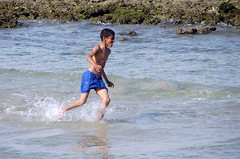 Joy of Life (Hamed Saber) Tags: boy sea beach fun kid gulf iran joy persiangulf qeshm gheshm bandarabbas hormozgan upcoming:event=418807 nazisland