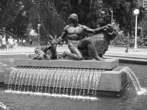 Fountain in Hyde Park, Sydney CBD.
