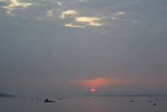 Sunrise on the Mekong (Sessions500) Tags: morning sky sun fish water clouds sunrise river boats dawn boat fishing cambodia khmer horizon earlymorning phnompenh fishingboats mekongriver phnompen himawarihotel khmerboats