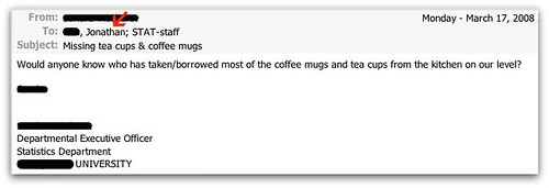 Would anyone know who has taken/borrowed most of the coffee mugs and tea cups from the kitchen on our level?