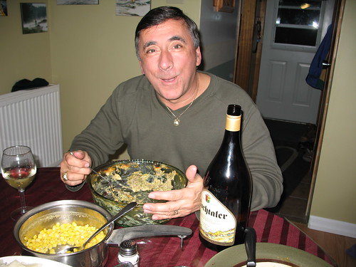 Uncle Wayne polishes off Easter dinner