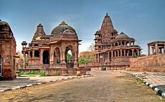 Way to the Cenotaphs (Ayush Bhandari) Tags: summer india history indian royal historical incredible hdr rajasthan hdri panaromic jodhpur ravana cenotaphs mandore jodha vlob