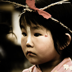 Faces of Japan XXI (manganite) Tags: girls portrait people topf25 colors face fashion festival japan museum kids digital vintage hair children square geotagged asian japanese tokyo eyes topf50 nikon asia child tl candid traditional yukata  nippon  desaturated d200 nikkor dslr japanesegirls nihon kanto koganei 500x500 edotokyoopenairarchitecturalmuseum 18200mmf3556 utatafeature manganite nikonstunninggallery challengeyou challengeyouwinner date:year=2006 winner500 geo:lat=35716474 geo:lon=139515123 date:month=august date:day=6 format:orientation=square format:ratio=11