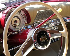 1951 Kaiser Dash (Dusty_73) Tags: auto classic car wheel vintage steering interior henry dash guages kaiser rare 1951 kingsburg kaiserfrazer
