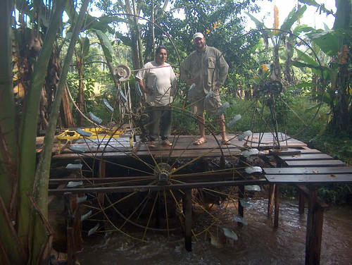 Martin & the Water Turbine builder Gilberto Fernandez.