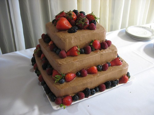 Square Chocolate Wedding Cakes