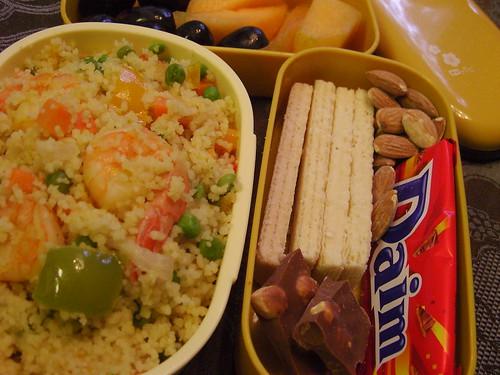 Couscous with shrimps & mixed vegetables