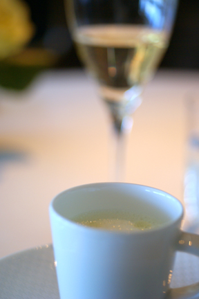 White Asparagus Soup and Rene Geoffroy Champagne web