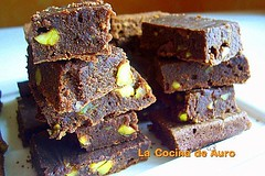 brownie con pistachos