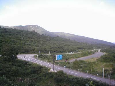 栗駒山山麓の丁字路