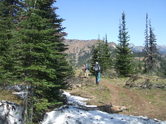 Heading down from Iron Bear