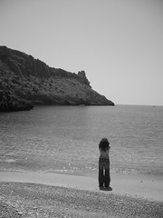 Girl and  loneliness sea (Alsvidhr79) Tags: sea girl loneliness