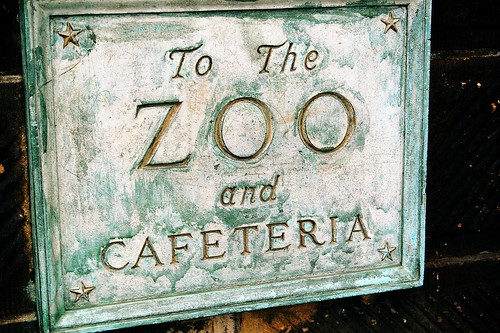 Central Park Zoo Sign