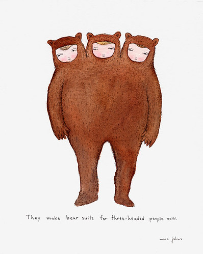 They make bear suits for three-headed people now