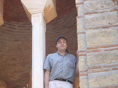 Me and a Byzantine church tower (steven_and_haley_bach) Tags: me myself dad steven byzantine mystras sixthday mistras greecevacation byzantineruins