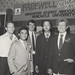 Ross Wisehart (Singapore Airlines), Heng Hock Heng (Singapore Students' Association), John Jenkins (Jayes Travel), Alex Ngian (SSA) and John Armstrong (Convocation) at the farewell dinner, the University of Newcastle, Australia - 1985