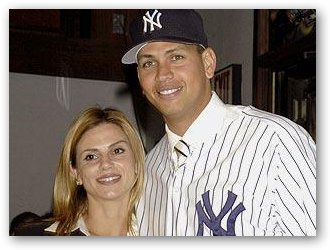 Cynthia Scurtis Rodriguez with A-Rod