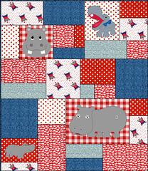 hippo quilt