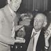Colin Anderson winner of the Newton-John Award 1980 with Professor Newton-John, the University of Newcastle, Australia