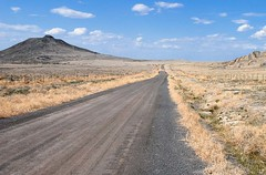 Wide-open spaces... 20080506_6088 (listorama) Tags: road mountains fence geotagged utah highway desert military lakeside airforce lakesidemountains uttr utahtestandtrainingrange puddlevalley ut2008may h500h