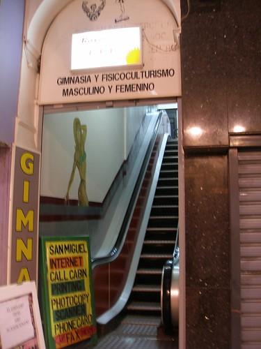 Escalera mecánica al deporte