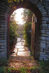 beautiful doorway (Margaret Stranks) Tags: door light stone evening arch southgloucestershire pettyfrance