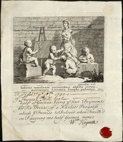'Boys Peeping at Nature' subscription ticket (Hogarth 1730) Rylands