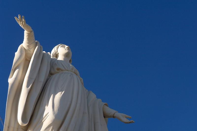 Mary on Cerro San Cristobal