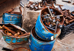 Blue Buckets of Bolts