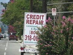 Credit Repair Signage