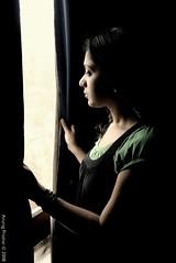At least, he should have said goodbye... (Anurag Prashar) Tags: woman india window girl beautiful sad looking feminine gorgeous young pensive curtains lovely charming pondering anurag d300 prashar ilovemypics krazynezz