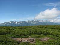 平山の山頂から見た表大雪山