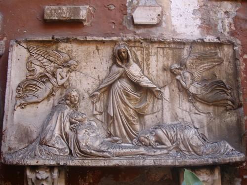 Église de: San Silvestro, à Rome, bas-relief dans images sacrée