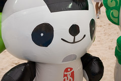 Olympic Mascots up close - Jingjing (Steve Rogers Photography) Tags: china park usa game beach beijing competition beachvolleyball tournament volleyball olympics day6 chaoyangpark chaoyang summergames elimination