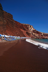 The red beach - Santorini (Giuseppe Finocchiaro) Tags: blue red sea beach island nikon mediterranean mediterraneo mare blu aegean santorini greece grecia rosso spiaggia cyclades isola cicladi akrotiri egeo aplusphoto goldstaraward