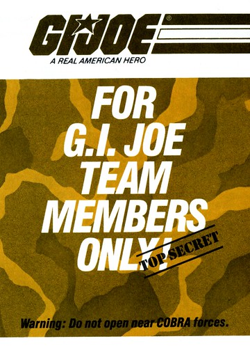 GI Joe Members Only - Cover A