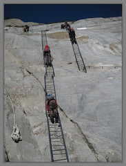 Ladders (Cold Mountain) Tags: mountains alps glacier chamonix merdeglace