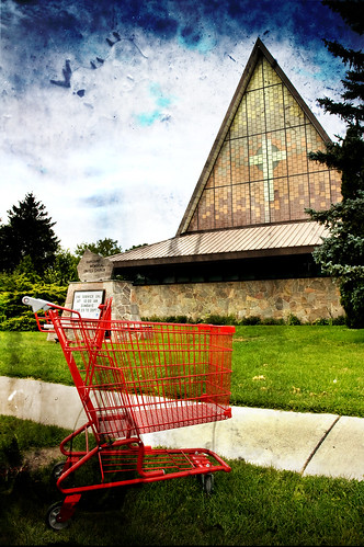 church and cart