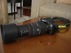 Nikon D60 & Sigma AF 70-300mm f/4-5.6 APO DG Telephoto Macro Lens (CAUT) Tags: camera lens nikon hood dslr nikond60 apodg sigmaaf70300mmf456apodgmacro