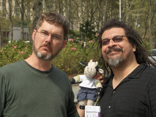 Mo Willems, me, and Kyle Baker
