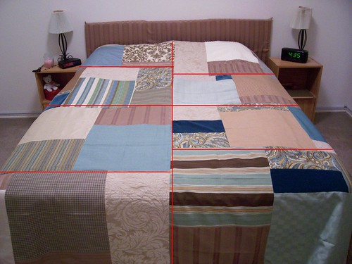 Modern Quilt, Lines of Quilting