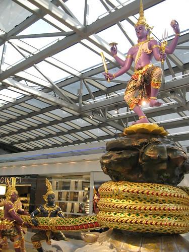 Churning of the Ocean -- Bangkok Suvarnabhumi Airport