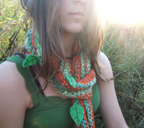 Autumn Harvest Organic Cotton Hemp and Bamboo Long and Chunky Scarf